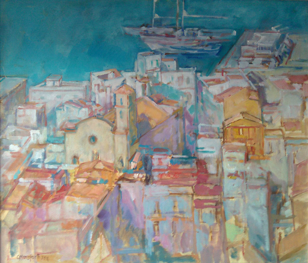 View-from-old-town-Ibiza-61x53cms