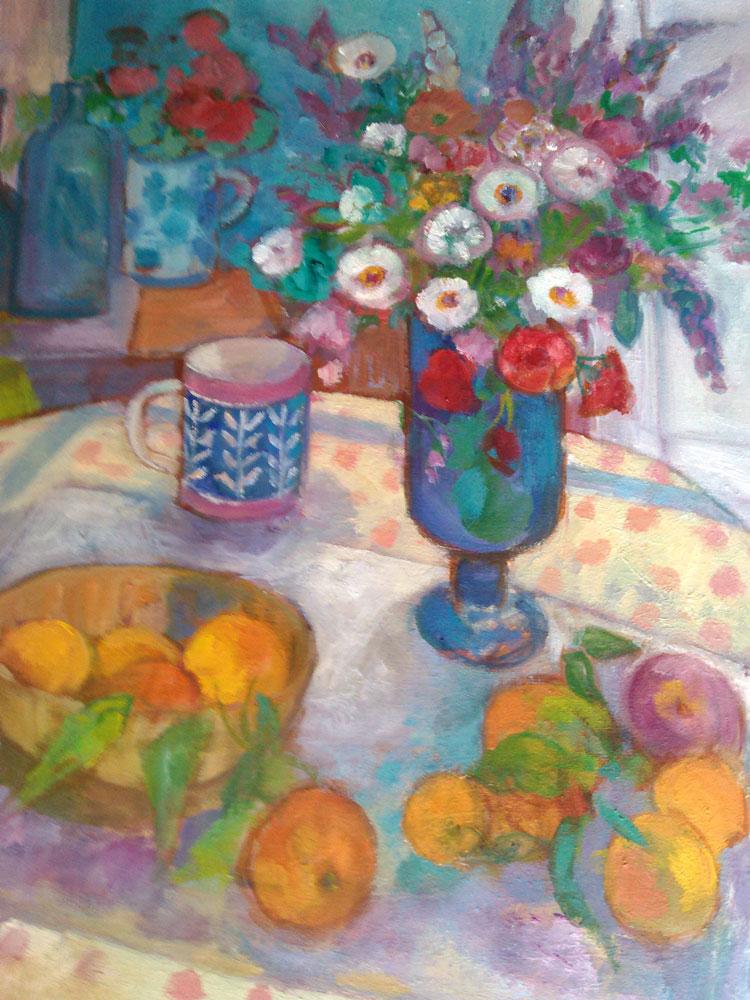 White-Daisies-Blue-Vase-61x50cms